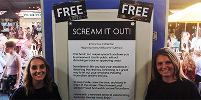 City workers scream in public at Australia's first interactive Scream Booth